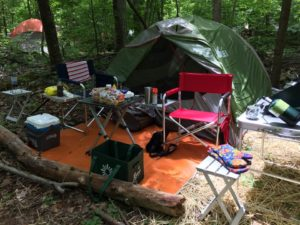 Camp Site for the weekend near Asheville NC